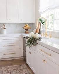Brass Kitchen Cabinet Hardware White Grey And Gold Kitchen Ivory Lane 3 K I T C H E N