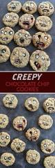 No Cook Halloween Treats Creepy Chocolate Chip Cookies Halloween Parties Halloween Foods