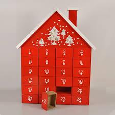 wood advent calendar gisela graham wooden christmas advent calendar house with
