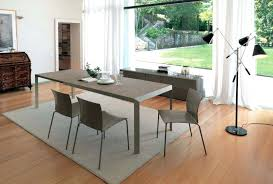 glass table extendable top modern dining table w optional chairs