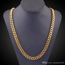 chain link necklace with images Wholesale male hiphop thick gold chain link necklace brand cuban jpg