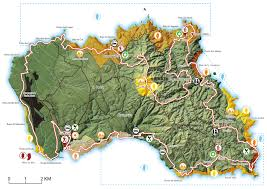 santa map great route of santa azores trails
