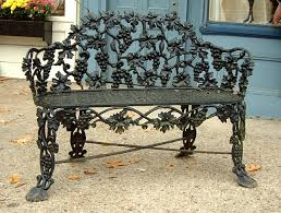 Antique Wrought Iron Outdoor Furniture by Antique Cast Iron Victorian Garden Lawn Bench Rust Never Sleeps