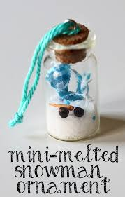 craft this mini melted snowman ornaments