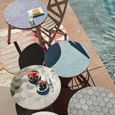 Jackson Bistro Table Mosaic Tiled Bistro Table Isometric Concrete West Elm