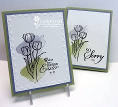 sympathy cards for pets leeann used the framed tulips embossing folder to dress up