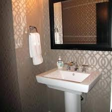 small guest bathroom decorating ideas contemporary guest bathroom alluring modern design blue wallpaper