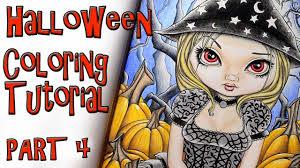 creepy crimson sky halloween background coloring book tutorial part 4 halloween by jasmine becket griffith