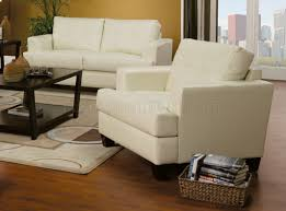 Cream Leather Club Chair Sofa U0026 Loveseat Cream Leatherette 501691 By Coaster