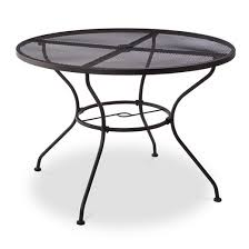 Hamlake Wrought Iron Round Patio Dining Table  Target - 60 inch round wrought iron outdoor dining tables