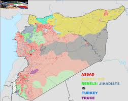 Syria On A Map by War In Syria On Twitter