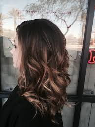 balayage hairstyle on long hair medium brown with blonde balayage