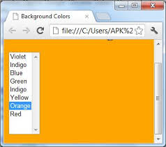 Html User Defined Background Color Using Textbox List Box And Html Set Page Background Color