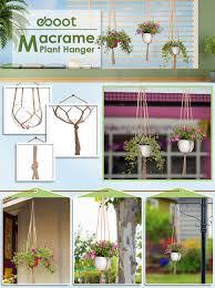 in door plant put in pot vide amazon com eboot 2 pack 48 inches plant hanger flower pot plant