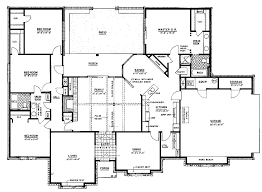 4 bedroom ranch floor plans plan 46000hc hill country classic house plans 4 bedroom house 4