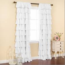 How To Make Ruffled Curtains Ruffled Curtains Painted Therapy Diy Ruffled Curtains Make Your