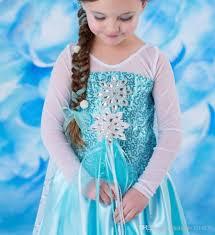 elsa halloween costume girls new 2015 frozen movie princess elsa anna costume halloween cosplay