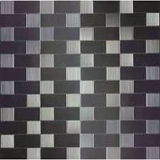 shop diy peel and stick backsplashes at lowes com instant mosaic brushed stainless mosaic metal wall tile common 12 in x 12