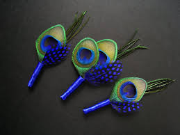 royal blue boutonniere 3 blue wedding boutonnieres blue boutineers 1 groom 2
