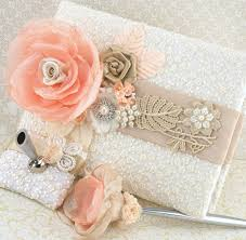 wedding guest book and pen set wedding guest book and pen set signature book in ivory blush