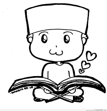 chibi muslim little boy reading quran chibi boy drawings 001 1