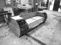 Rustic Log Benches - rustic log bench corner bench