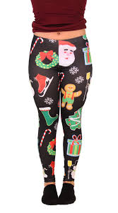 Plus Size Skeleton Leggings Plus Size Santa Claus Christmas Leggings Christmas Leggings