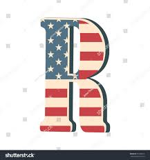 Flag Capital Capital 3d Letter R American Flag Stock Vector 651000010
