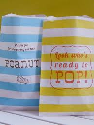 peanut baby shower popcorn peanut baby shower favors how to make a gift bag
