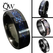 mens celtic wedding bands queenwish 8mm tungsten carbide rings sliver black gold celtic