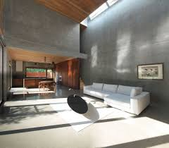 Interior Concrete Walls by Modern Natural Wooden Writing Desk On Gray Concrete Wall Floating