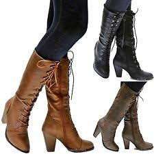 womens boots mid calf brown s mid calf boots ebay