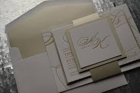 formal wedding invitations real wedding alyssa and kyle modern chagne and gold wedding