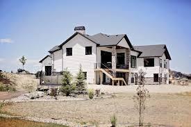 home design baton modern rustic white farmhouse black doors black trim