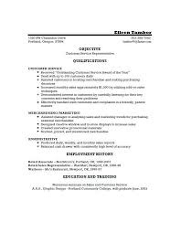 Free Sample Resume For Customer Service Representative Customer Service Resumes Examples Free Resume Example And Free