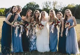 bridesmaid dresses rainbow colours