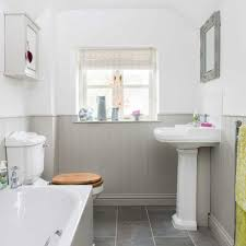 be inspired by this light bright country bathroom ideal home