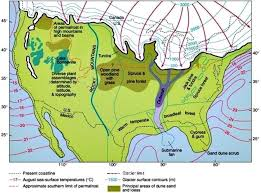 map of america 20000 years ago pleistocene history of earth s climate