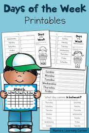 free days of the week worksheets worksheets learning and child
