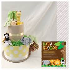 gender neutral jungle diaper cake jungle safari theme