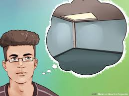 How To Hang Projector From Ceiling by How To Mount A Projector 14 Steps With Pictures Wikihow