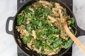 pasta salad with butternut squash and brussels sprouts the