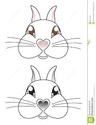 cartoon rabbit face vector royalty free stock photos image 9974548