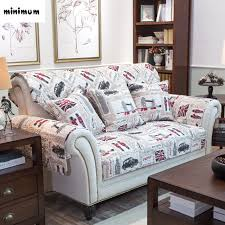 canapé angleterre rétro angleterre coton tissu canapé coussin twill anti slip housse