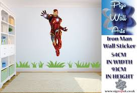 man wall sticker children u0027s bedroom decal large marvel