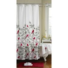 Christmas Bathroom Rugs Winter Cardinals Christmas Bathroom Collection Shower Curtain Rug