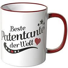 patentante sprüche wandkings tasse spruch beste patentante der welt rot