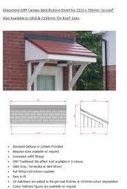 grassmere door canopy