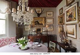 Dining Room Crystal Chandelier Stock Photos  Dining Room Crystal - Crystal chandelier dining room