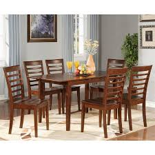 shop east west furniture picasso mahogany dining set with